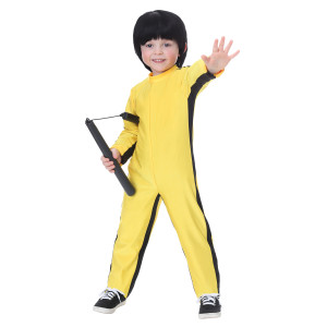 Bruce Lee Yellow Toddler Jumpsuit Costume