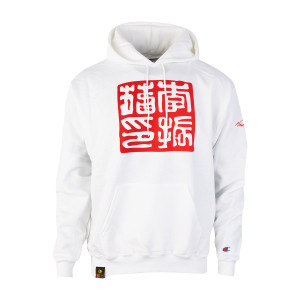 By the Name of Jun Fan Lee Champion Pullover Hoodie - White