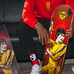 Yin Yang Crew Socks GOLD