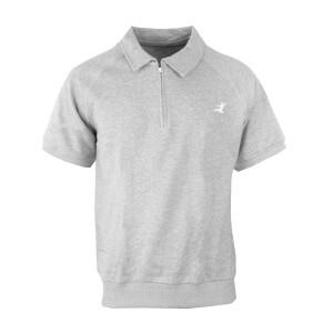 Flying Man 1/4 Zip Short Sleeve Trainer Sweatshirt
