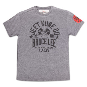 Bruce Lee Classic JKD Tee by Roots of Fight - SIZE SMALL GREY ONLY