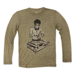 Bruce Lee DJ Dragon Long Sleeve Tee by Bow & Arrow
