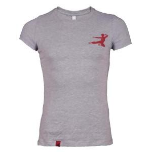 Bruce Lee Small Logo Flying Man Ladies T-Shirt