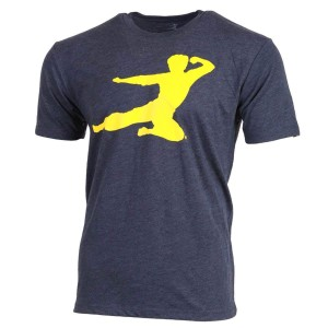 Flying Man T-shirt - Heather Navy