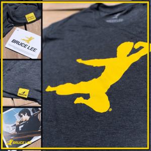 Flying Man T-shirt - Heather Navy