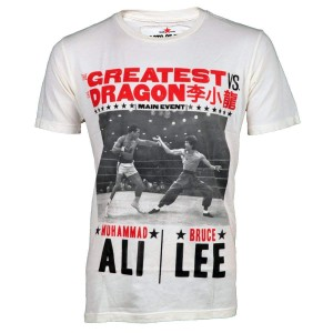 The Greatest vs. The Dragon T-shirt - Vintage White