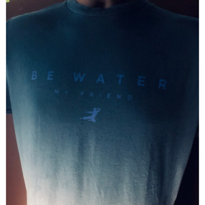 Be Water, My Friend Ombre Minimalism T-shirt