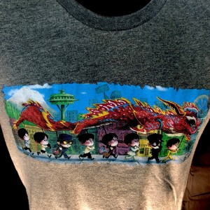 "ARTIST SERIES: ""The Dragon Dance"" T-shirt - Deep Heather"