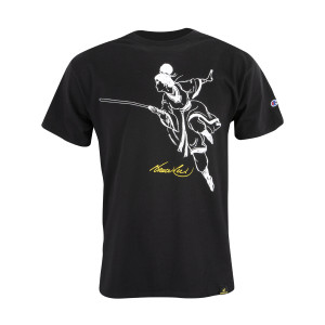 Warrior Sketch by Bruce Lee Champion T-shirt