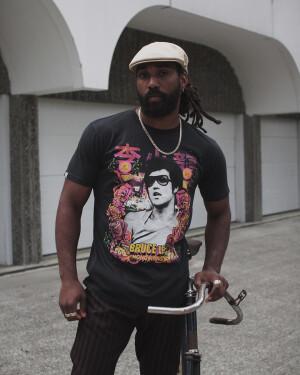 Bruce Lee Retro Photo T-shirt