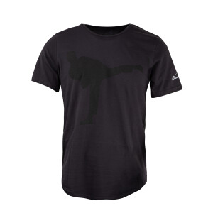 Bruce Lee Kick Curved Hem T-shirt