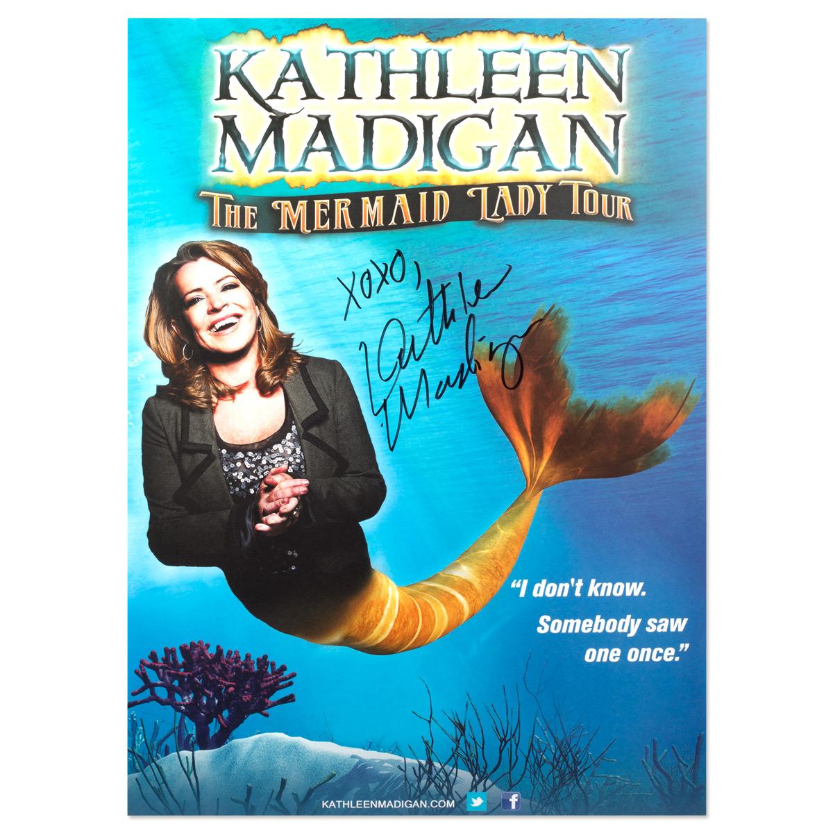 Kathleen Madigan Signed Mermaid Poster