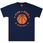 Five-Star Basketball – Navy Modern Logo Tee