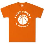 Five-Star Basketball – Orange Modern Logo Tee