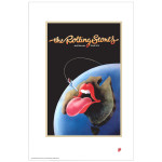 Rolling Stones 1973 Australia Tour Lithograph