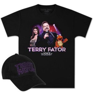 Terry Fator Logo Cap and LIVE T-shirt