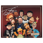 Terry Fator Puppets Group Photo with Autograph Facsimile