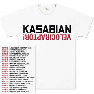 Kasabian Logo Raptor Tour T-Shirt