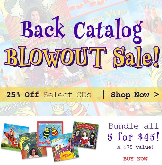 Laurie Berkner Band CD Blowout Sale