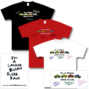 Laurie Berkner Band - Autographed Car T-Shirt