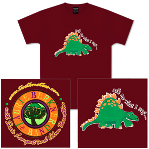 Laurie Berkner Band - Kid's (Dino) Ask Me What I Say Maroon T-Shirt