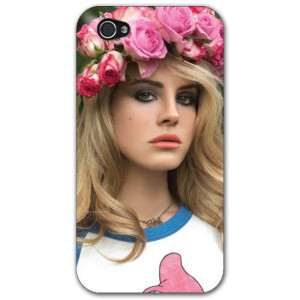 Lana Del Rey Flowers iPhone 4 Case