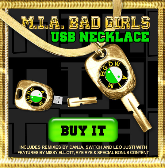 MIA USB Keychain