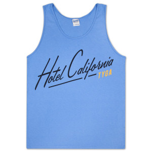 Tyga Hotel California Tank Top - Blue