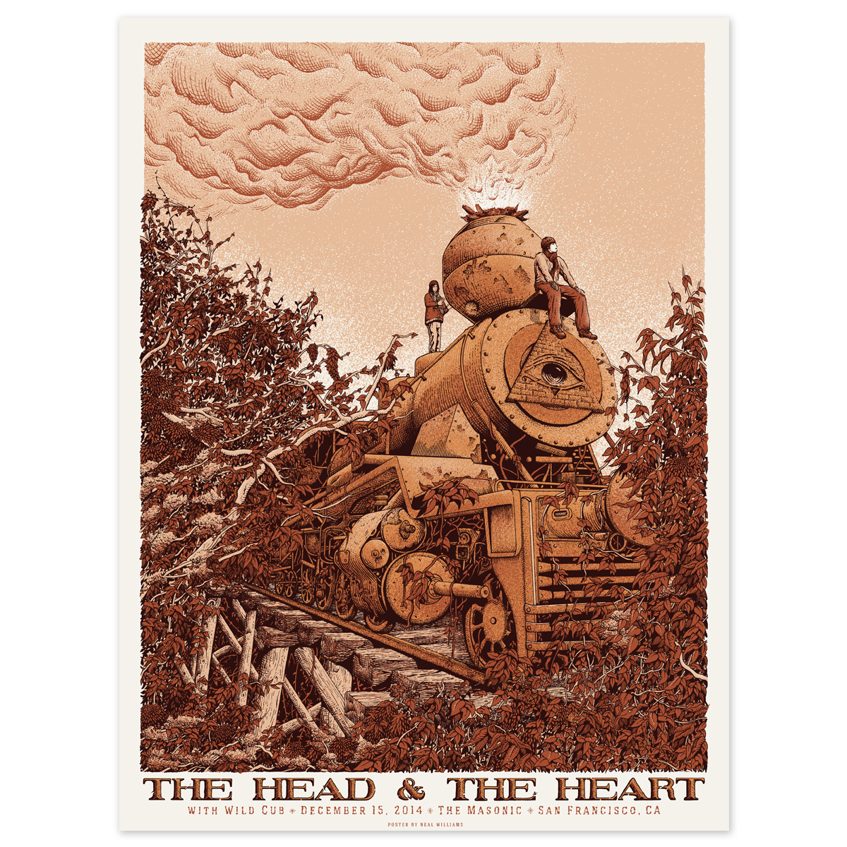 The Head and The Heart December 15th San Francisco Poster