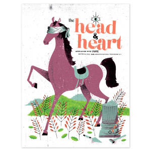 The Head and The Heart December 9th DC Poster
