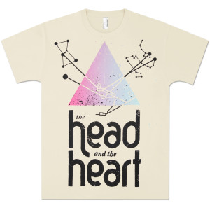 The Head and the Heart Pyramid Tee