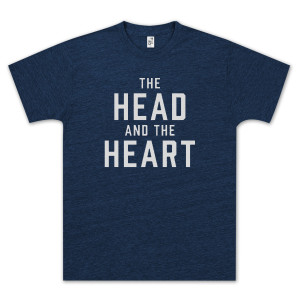 The Head and The Heart Logo Blue T-Shirt