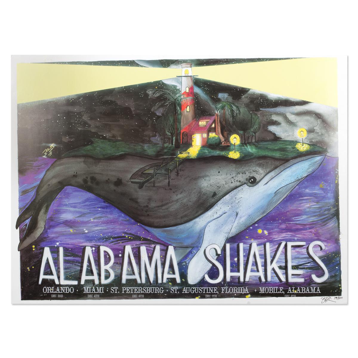 Alabama Shakes December 2013 Tour Poster