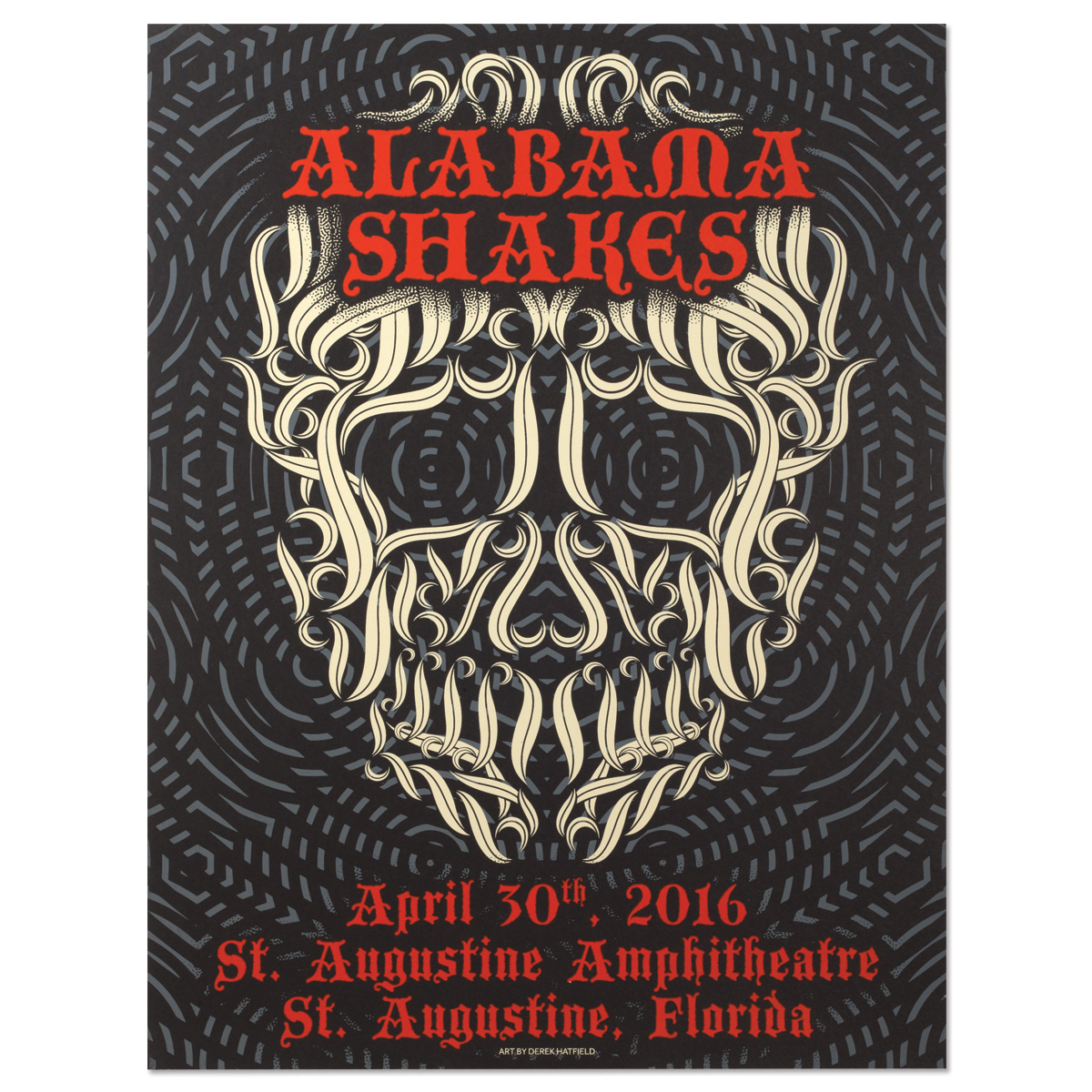 Alabama Shakes Show Poster - St. Augustine, FL 4/30/2016