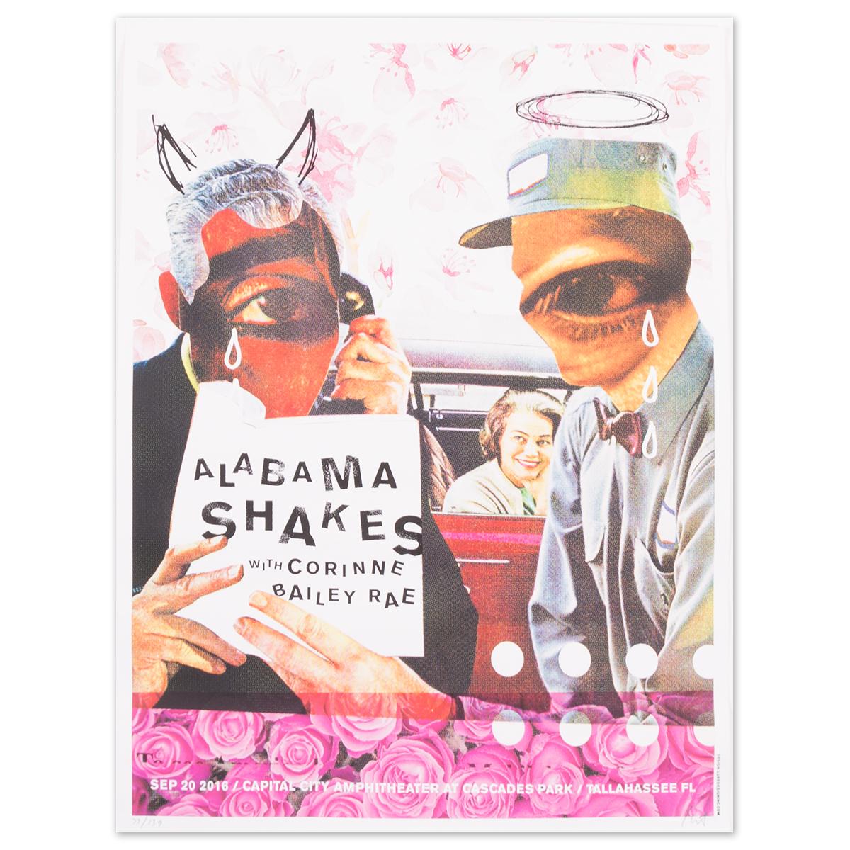 Alabama Shakes Show Poster - Sep. 20, 2016 Capital City Amphitheater, Cascades Park