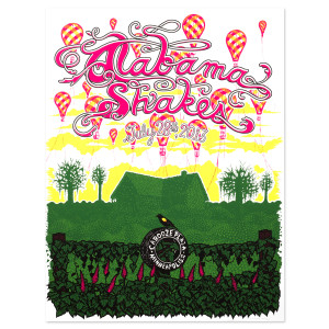 Alabama Shakes Numbered Litho - Minneapolis, MN 7/28/2013