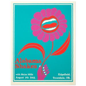 Alabama Shakes Show Poster - Troutdale, OR 8/7/2015