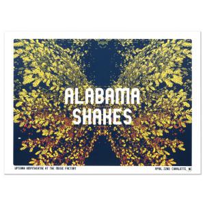 Alabama Shakes Show Poster - Charlotte, NC 4/22/2016