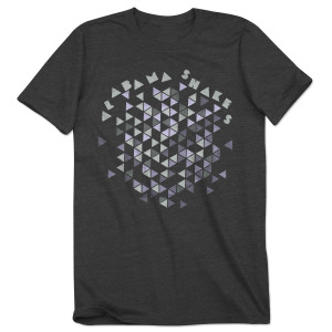 Alabama Shakes Dark Grey Triangle Tee