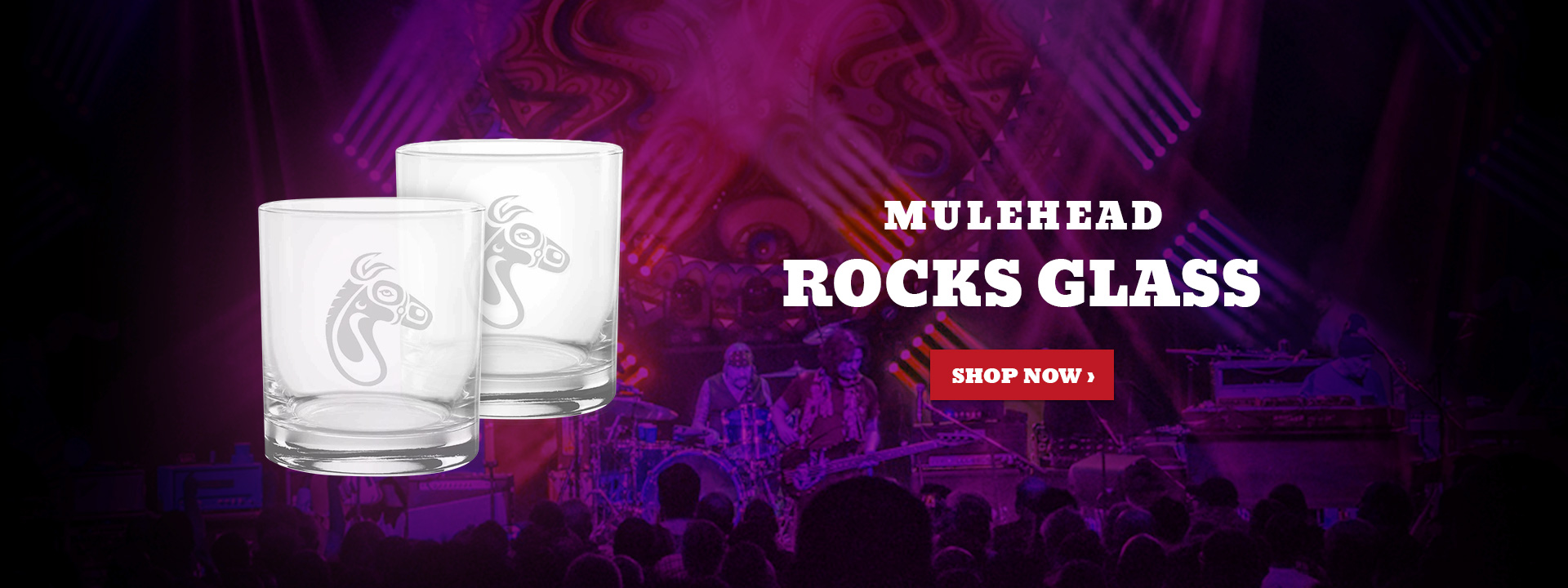 Mulehead Rocks Glass
