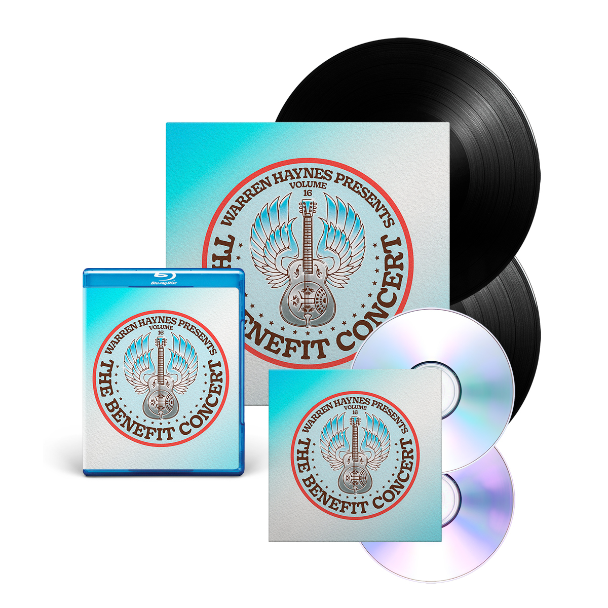 Double Vinyl + Blu-Ray + CD/DVD Bundle: The Benefit Concert V. 16