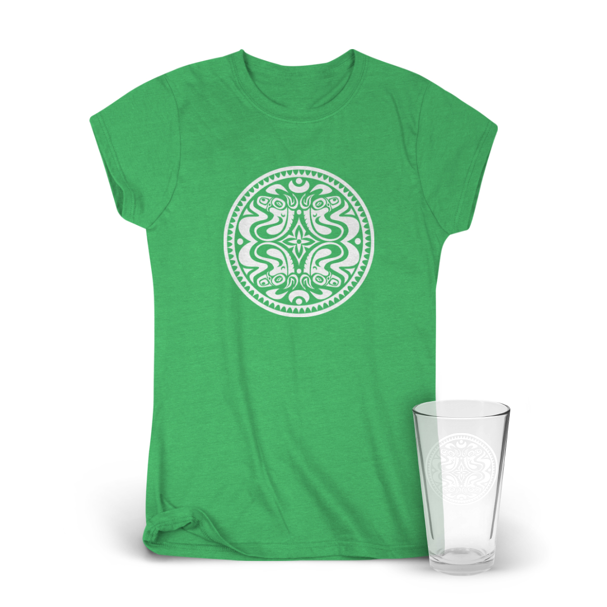 Classic Dose Logo Women's T-Shirt & Pint Glass Bundle