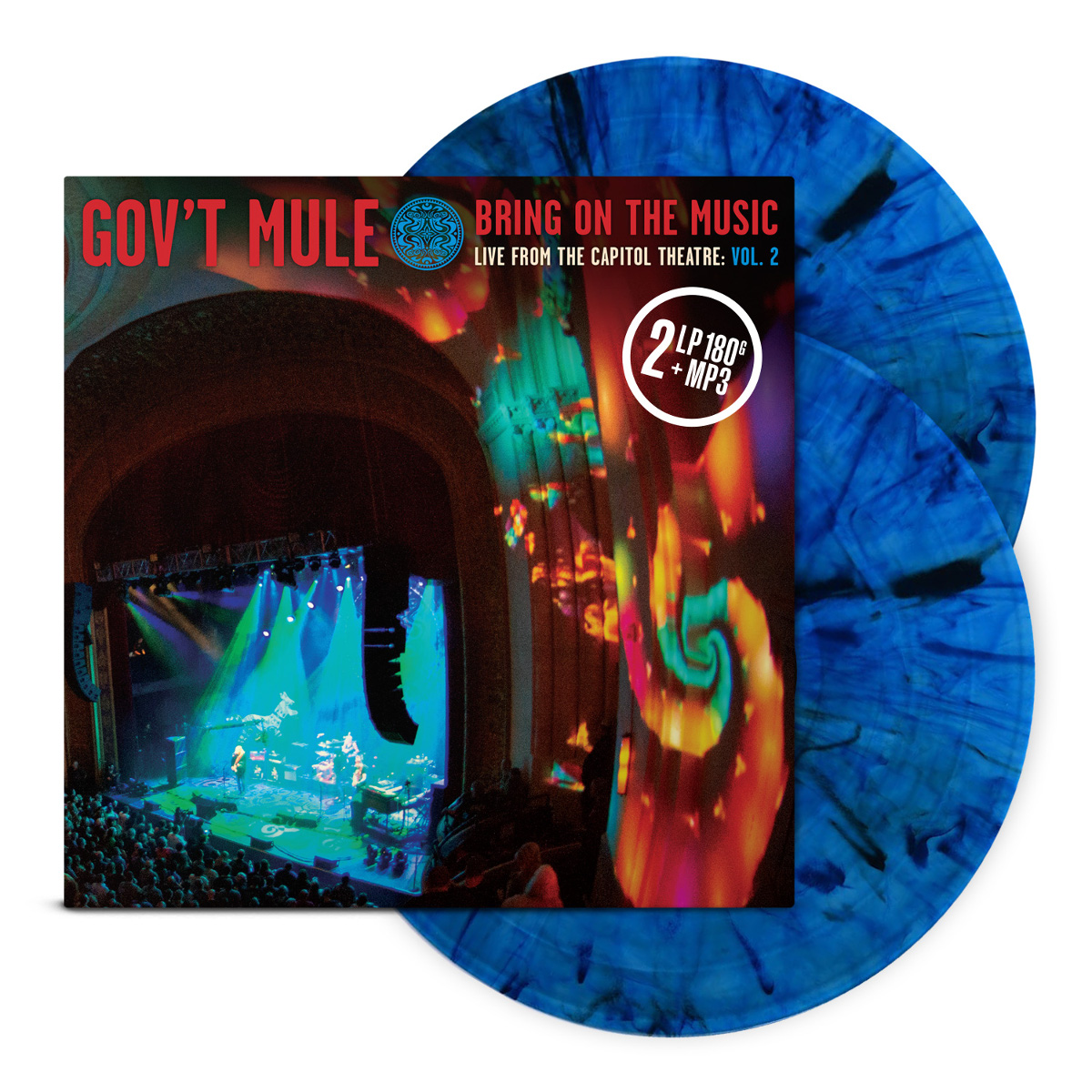 4-LP Red & Blue Splatter Vinyl Bundle: Bring On The Music / Live at The Capitol Theatre