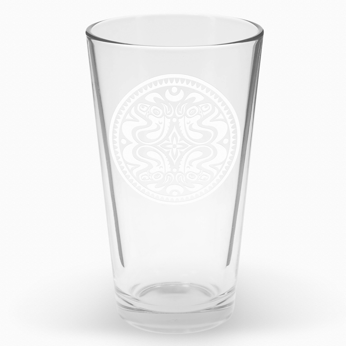 Dose Etched Pint Glass