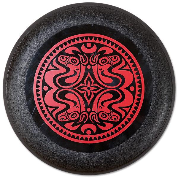 Quattro Dose Black Frisbee