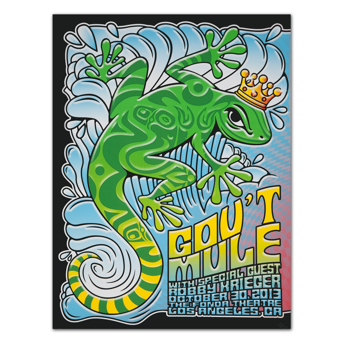 Gov't Mule 2013 Los Angeles, CA Fonda Theatre Event Poster
