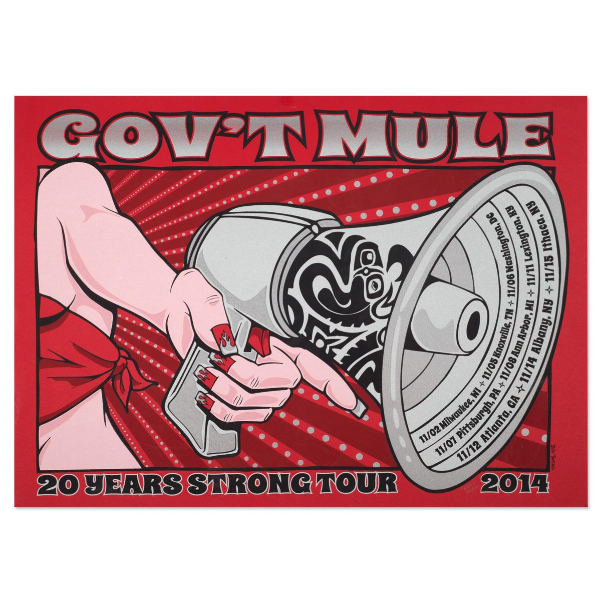 Gov't Mule 2014 Fall Tour Poster