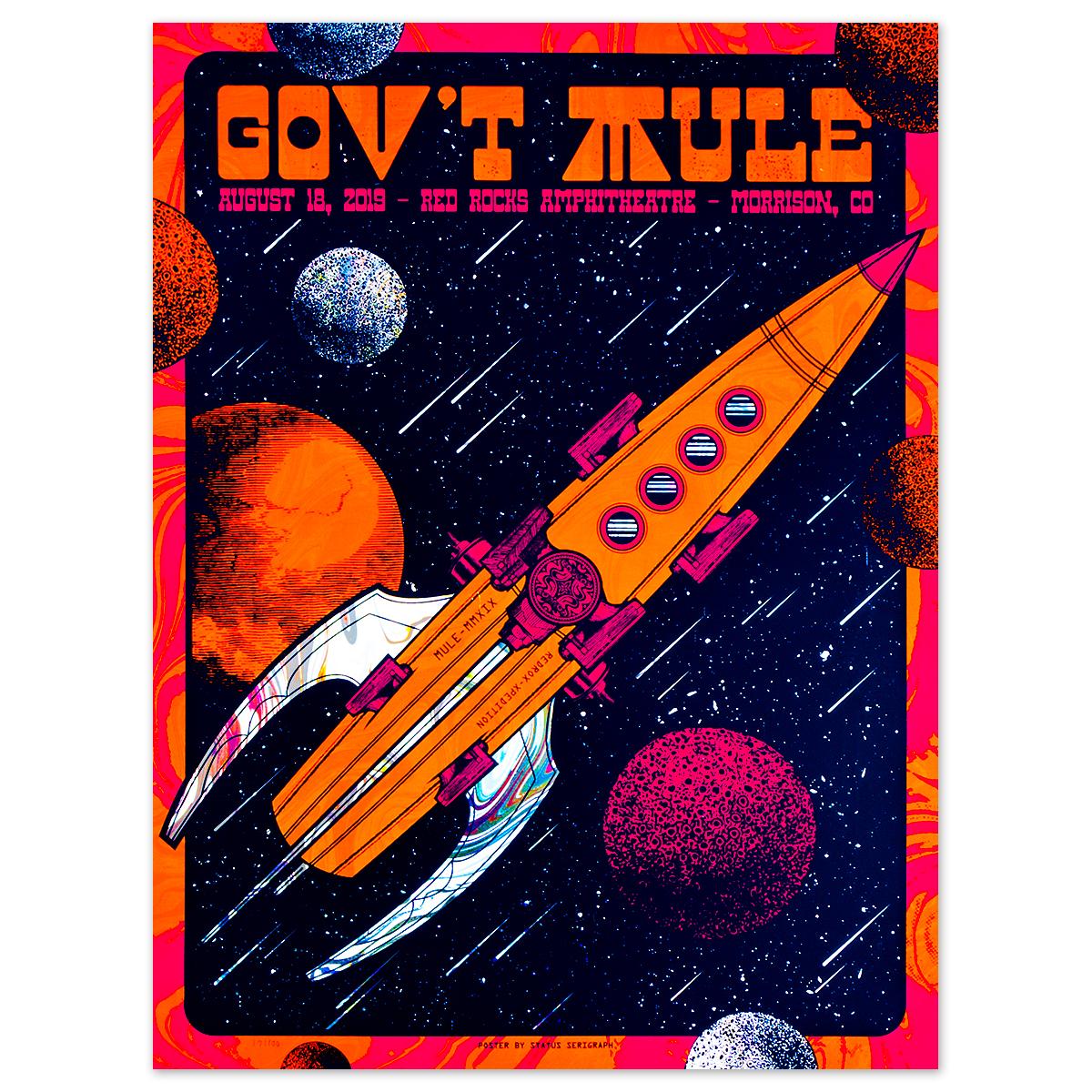 August 18, 2019 Red Rocks Poster - Foil Variant