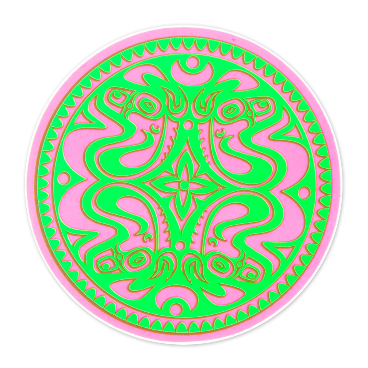 Gov't Mule Pink/Green Neon Dose Sticker