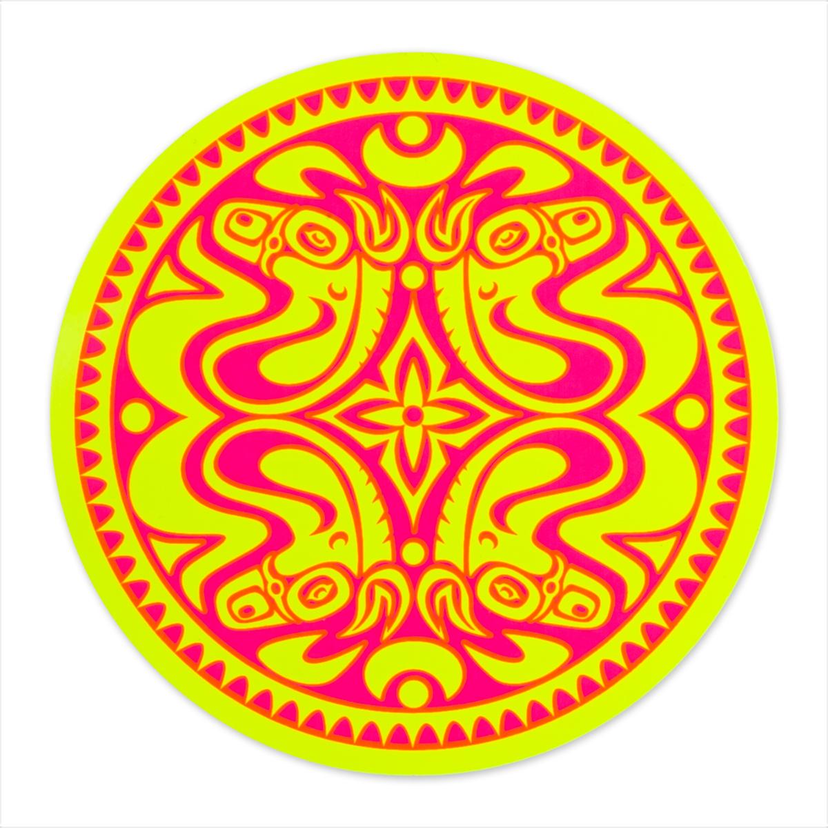 Neon Yellow & Pink Sticker